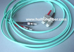 10Gigabit OM4 Aqua 50/125 Multimode SC to ST Fiber Optic Patch Cable